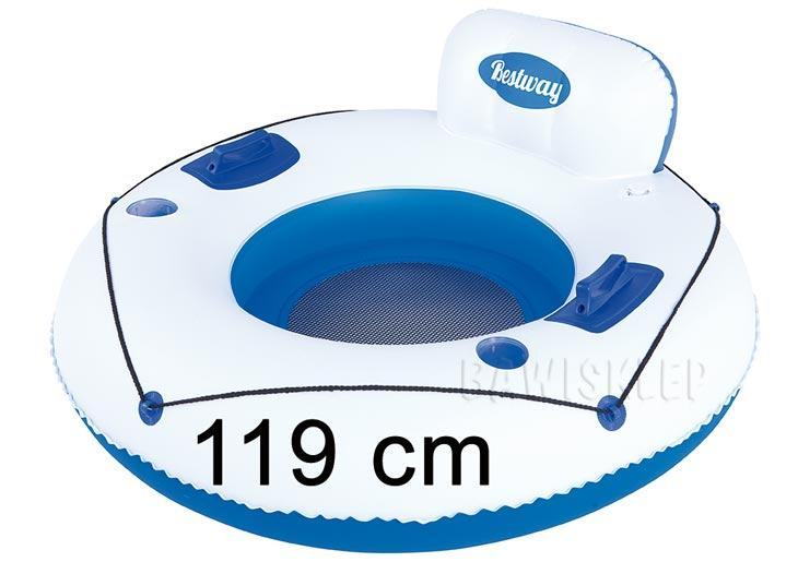 acf03c8ee12cc3 Fotel kółko do pływania Luxury Loung 119cm BESTWAY