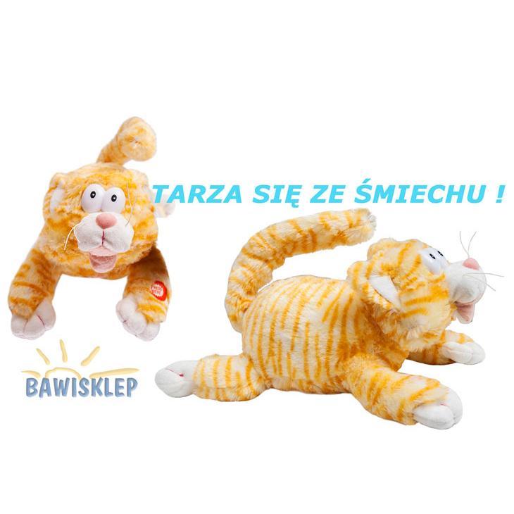 Kot Pluszowy 32 Cm Leży Tarza Się Ze śmiechu