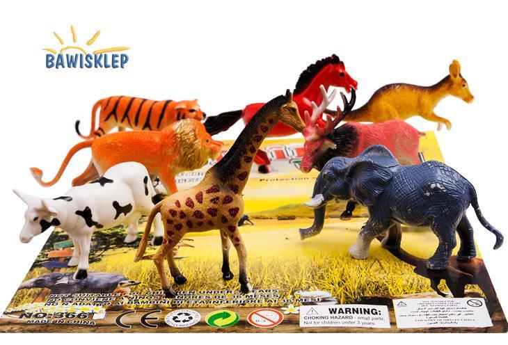 f284075113582 Figurki zwierząt ok.14cm - zestaw 8 szt