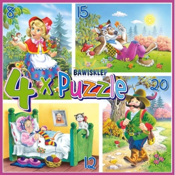 4xPuzzle , Little Red Riding Hood Castorland