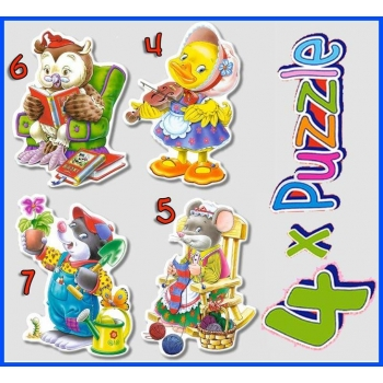4xPuzzle , Leisure Time Castorland