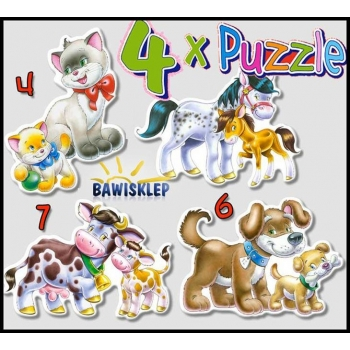 4xPuzzle , Animals with Babies Castorland M