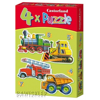 4xPuzzle , Vehicles Castorland M