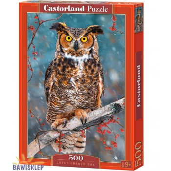 Puzzle 500 el. Great Horned Owl  Castorland