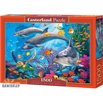 Puzzle 1500 el. Secrets of the Reef  Castorland